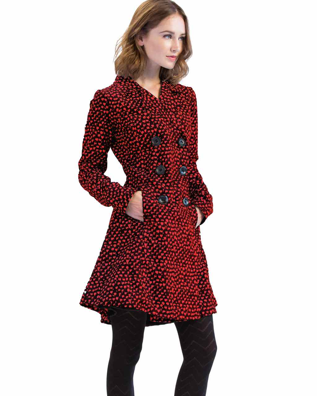 Pygmees Trench Coat Thann Red Black