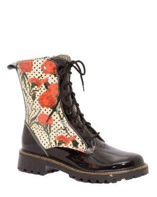 Mael Short Boots Poppy Design