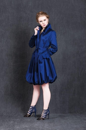 Samuel Dong Bubble Coat Deep Blue