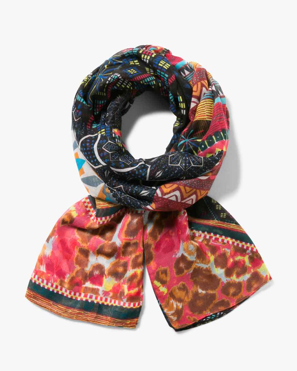 17WAWFG0_7008 Desigual Scarf Rectangle Misha Buy Online