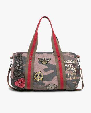 17WAXFBT_6087 Desigual Bag Zadar Militar Flores Canada