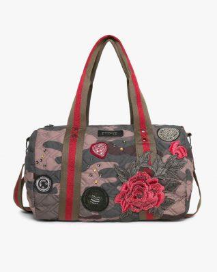 17WAXFBT_6087 Desigual Bag Zadar Militar Flores Buy Online