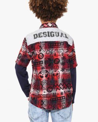 17WBCW01_3092 Desigual Boys Shirt Chow Canada