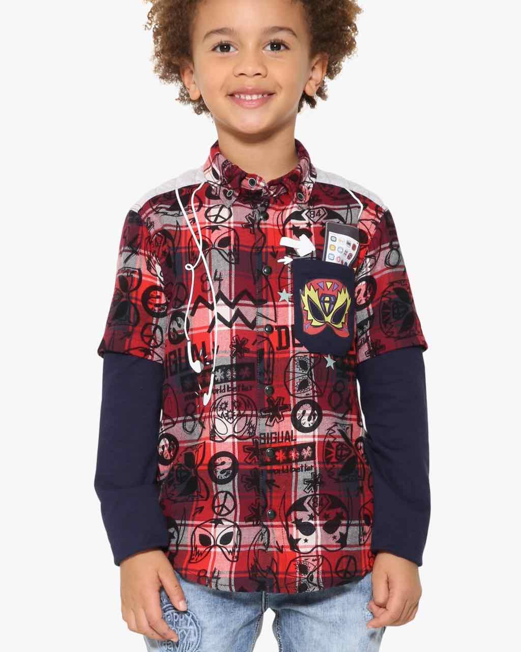 17WBCW01_3092 Desigual Boys Shirt Chow Buy Online
