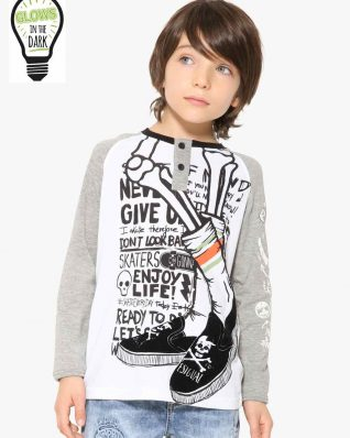 17WBTK24_1000 Desigual Boy T-Shirt Black Buy Online