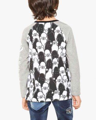 17WBTK24_1000 Desigual Boy T-Shirt Black Canada