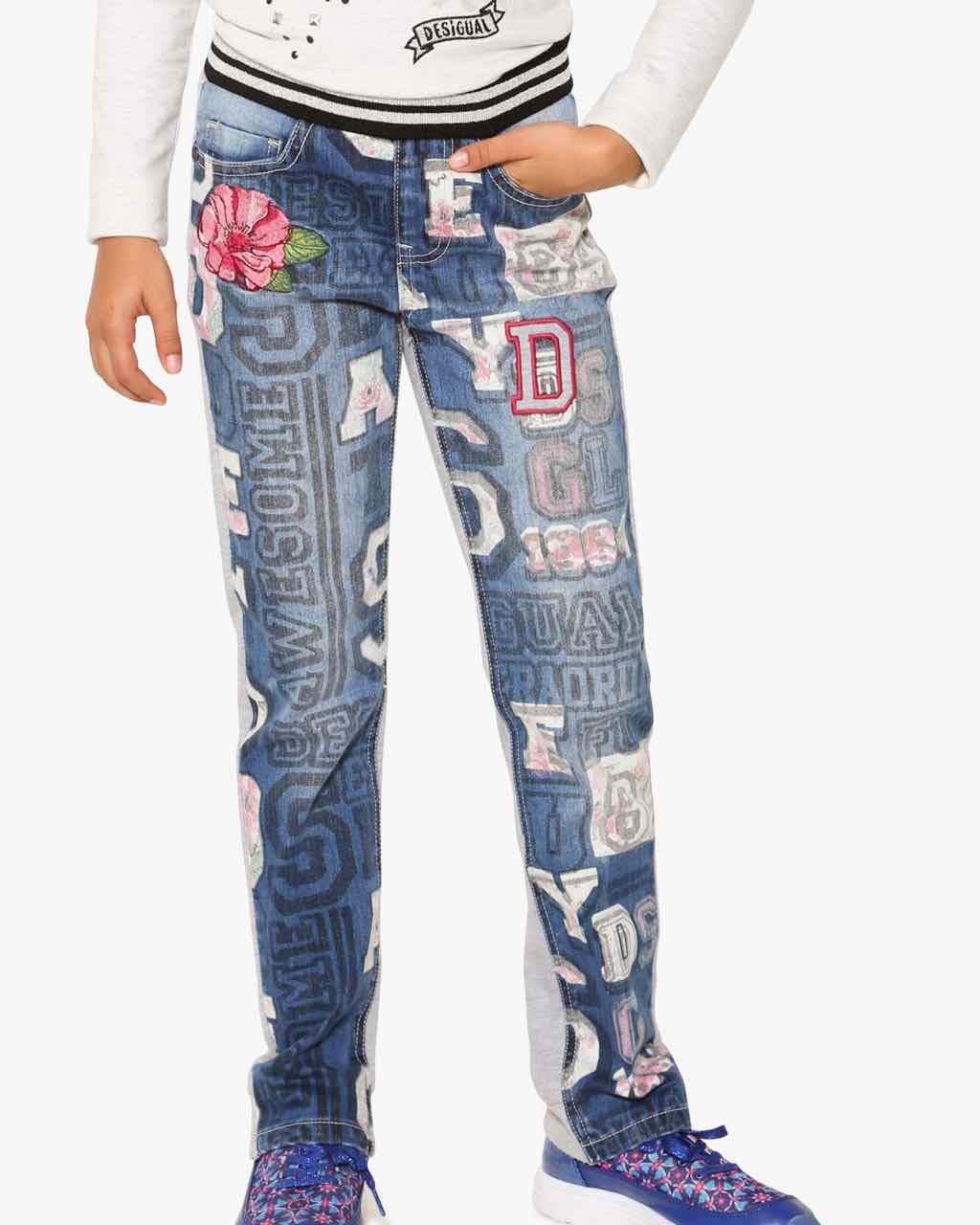 17WGDD15_5006 Desigual Girl Jeans Mallard Buy Online