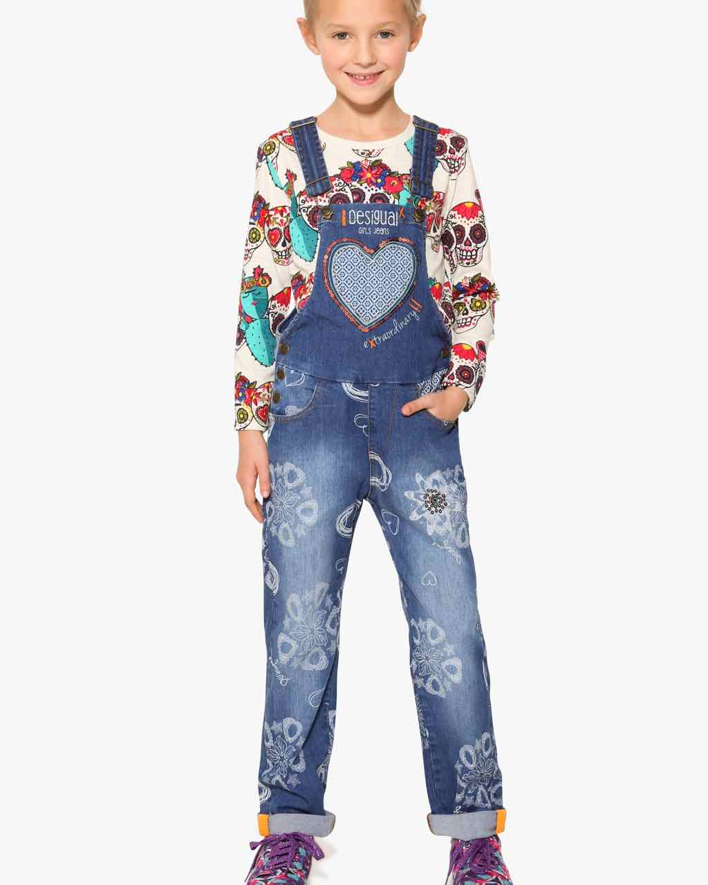 17WGDD17_5006 Desigual Girls Denim Overall Pubill Buy Online