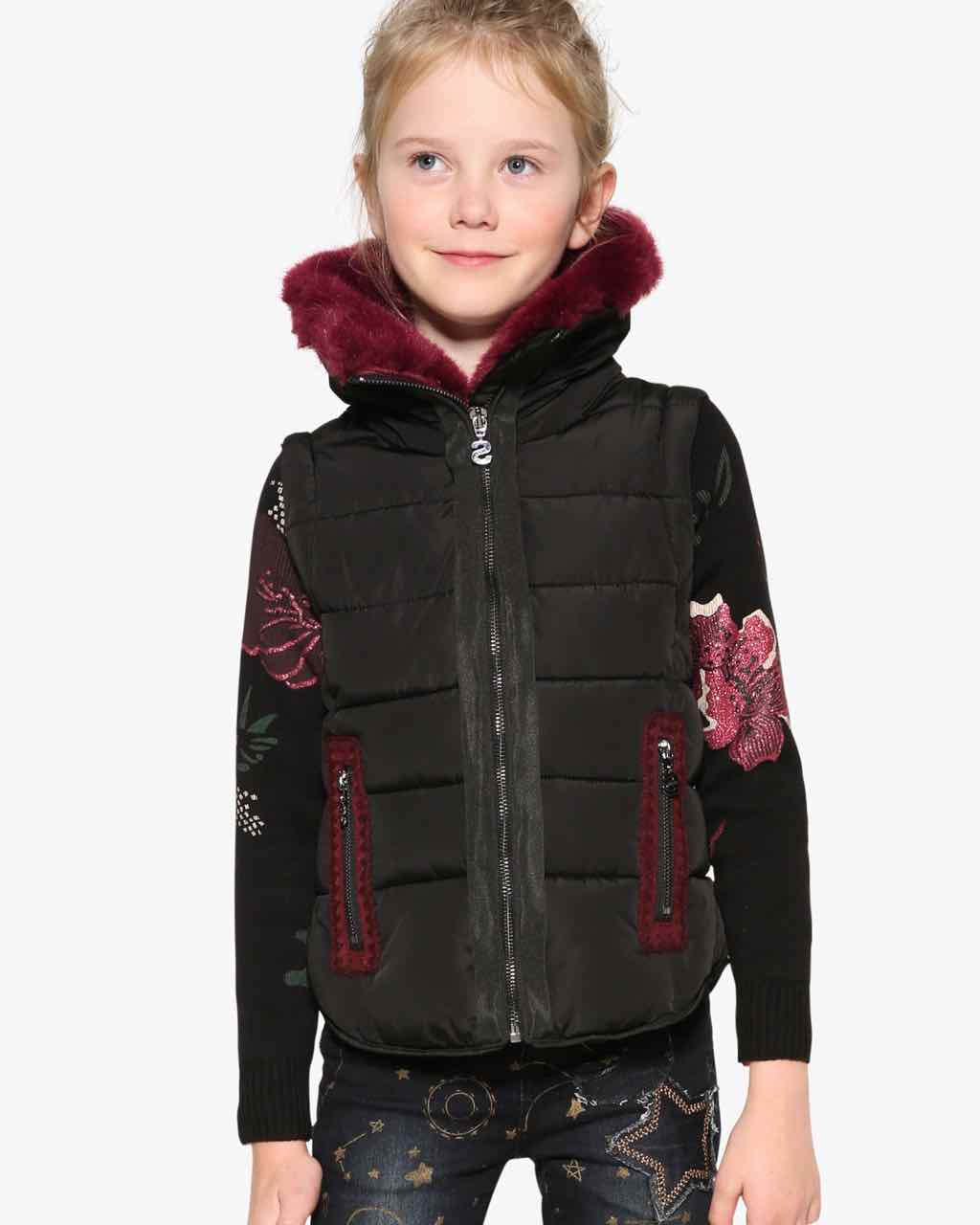 Desigual Girls Winter Jacket OPUNTIA 17WGEW23 | Black