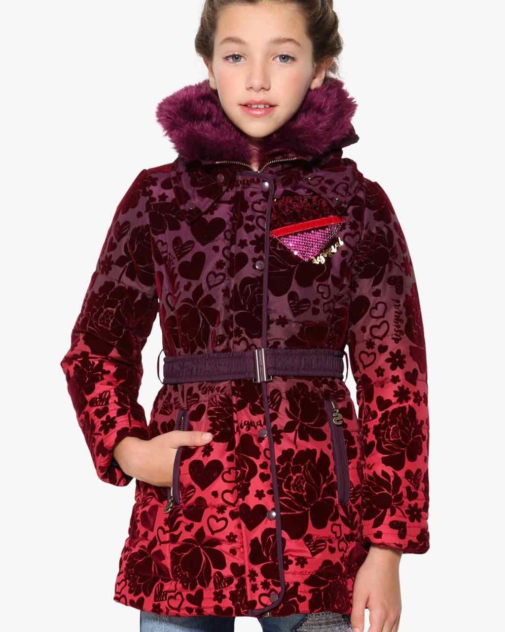 17WGEW27_3006 Desigual Girl Coat Sinita Buy Online