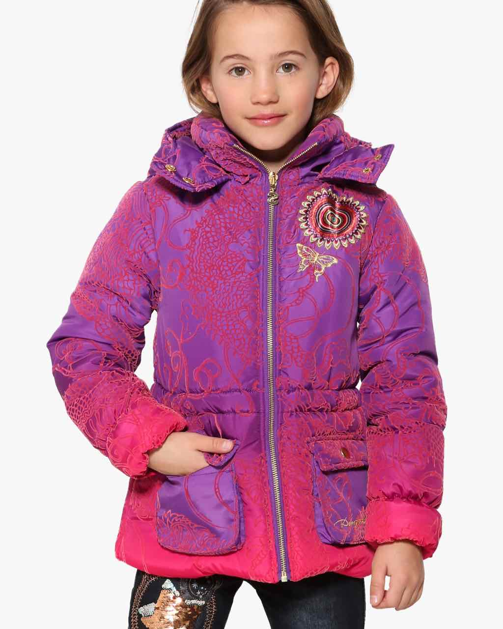 17WGEW29_3125 Desigual Girls Coat Cardedeu Buy Online