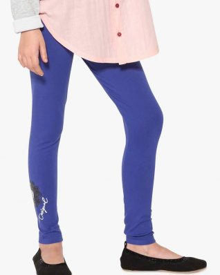 17WGKK16_5010 Desigual Girl Basic Leggings Blue Buy Online