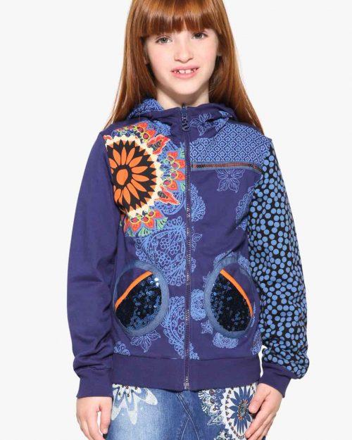 17WGSK04_5128 Desigual Girl Reversible Sweater Dante Buy Online