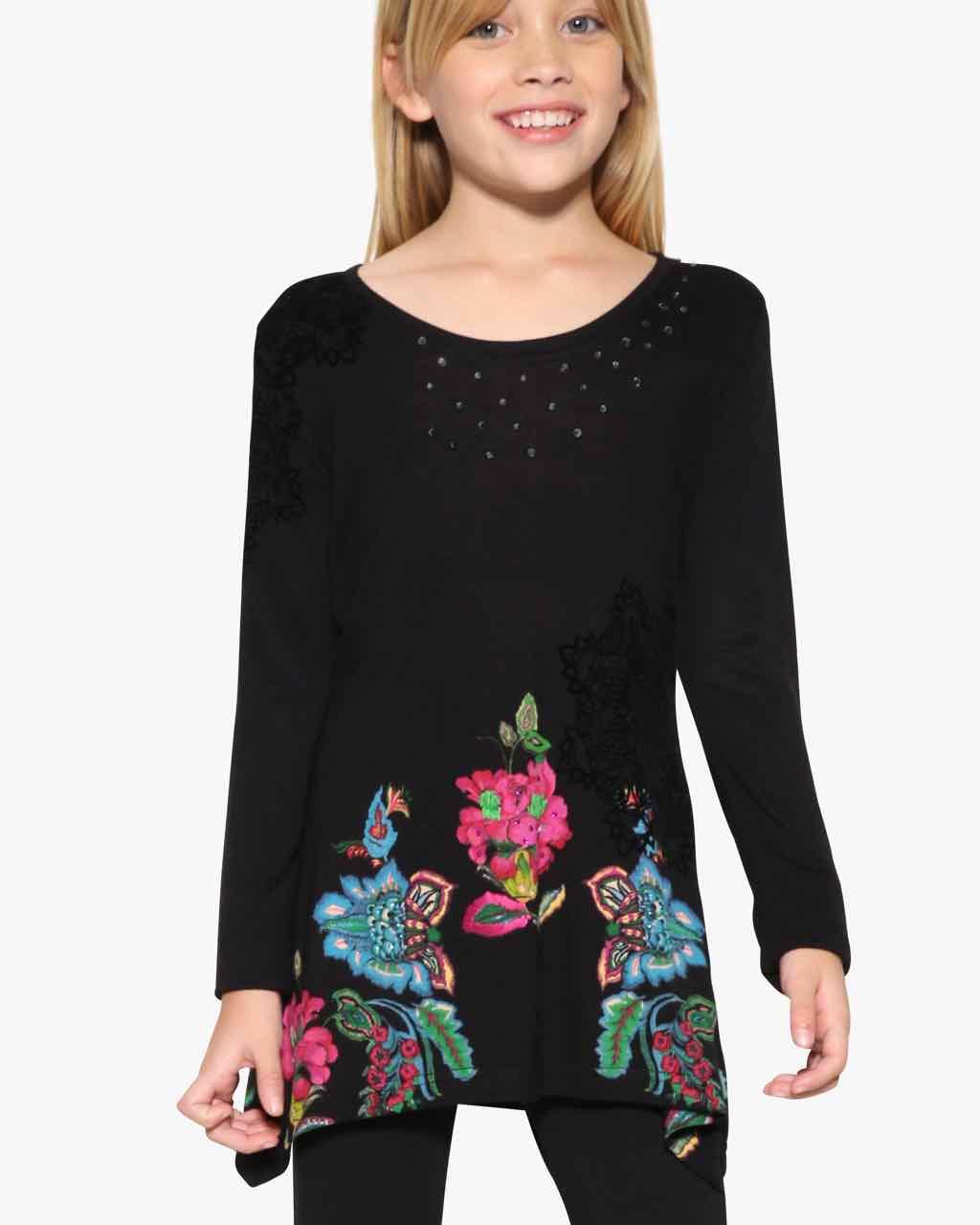 17WGTK08_2000 Desigual Girls T-Shirt Delawere Buy Online