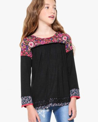 17WGTK81_2000 Desigual Girl T-Shirt Daisies Buy Online