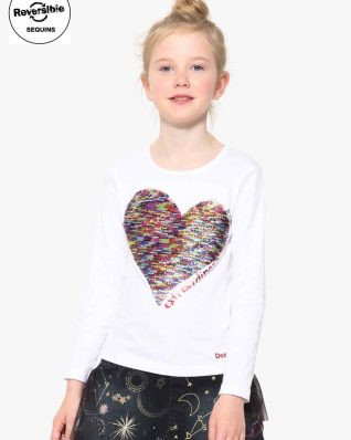 17WGTK83_1000 Desigual Girls T-Shirt Vancouver Buy Online