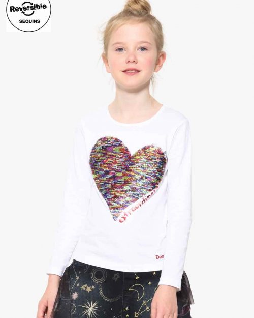 17WGTK83_1000 Desigual Girls T-Shirt Vancouver Buy Online