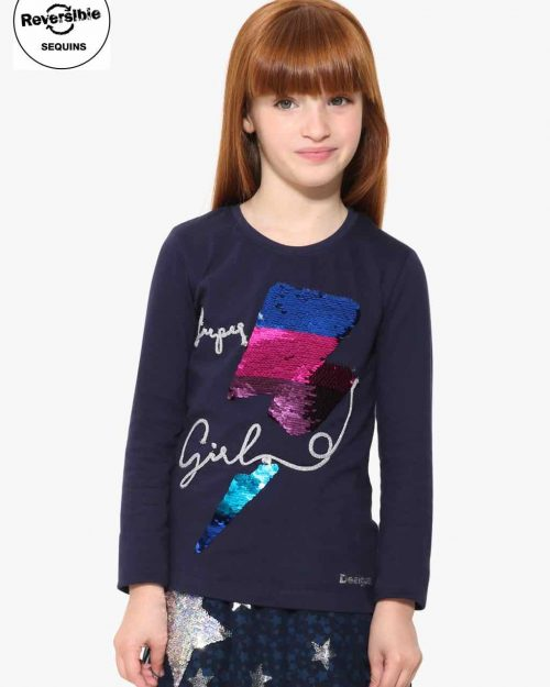 17WGTK85_5000 Desigual Girls T-Shirt Hamilton Buy Online
