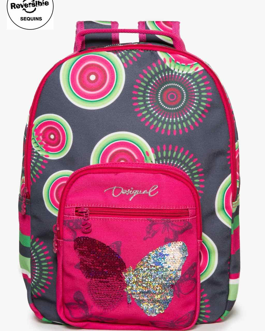 17WGXW05_2017 Desigual Girls Backpack Tamarillo Buy Online