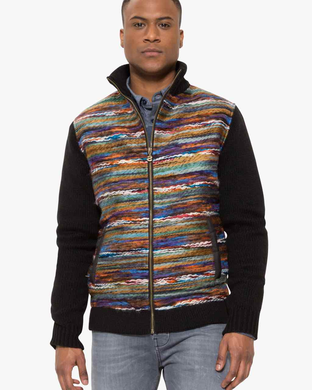17WMJF13_2000 Desigual Men Sweater Jacket Rocuptible Buy Online