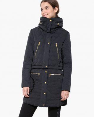 Desigual 2 in 1 winter coat black