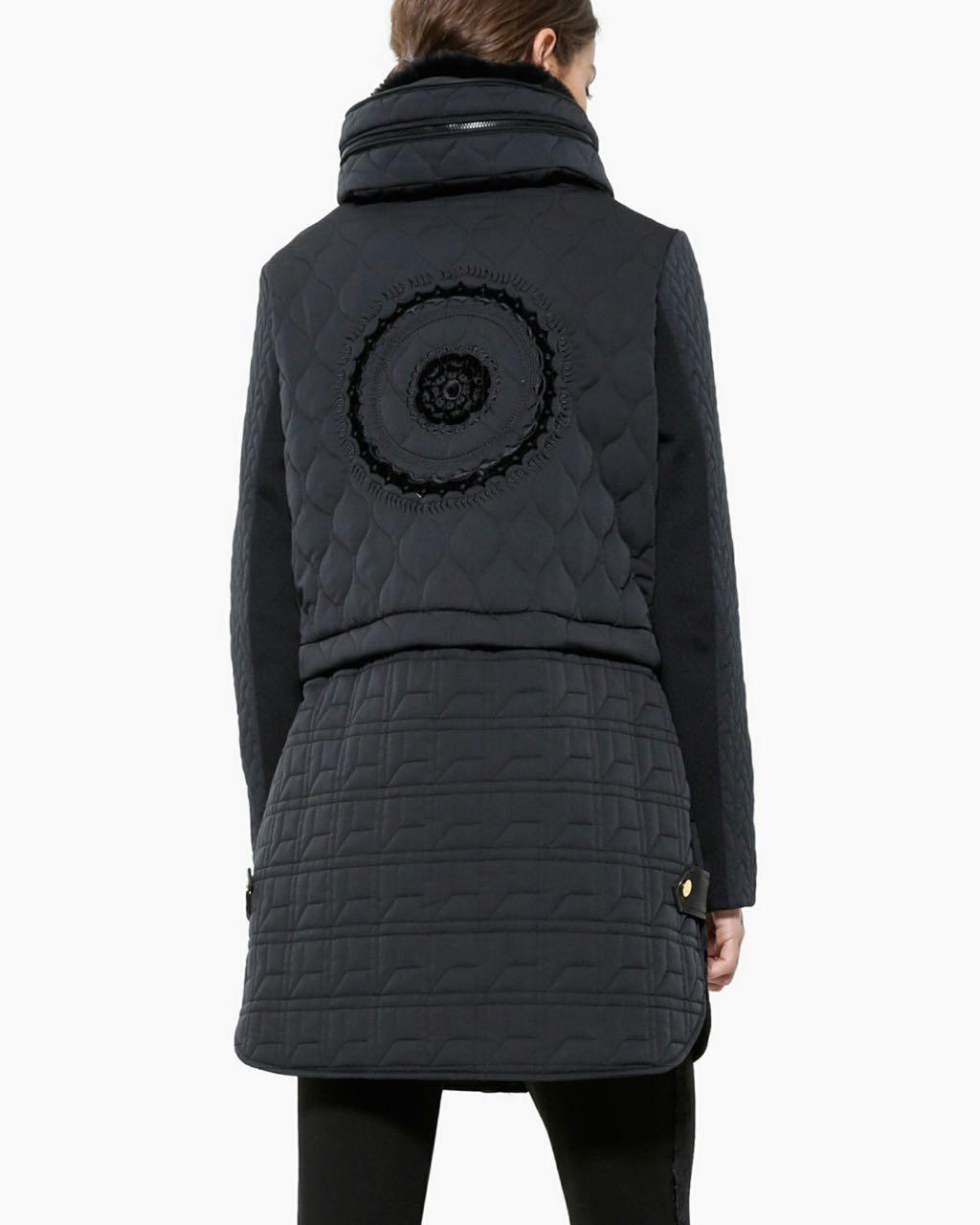 Desigual Long Jacket California Black