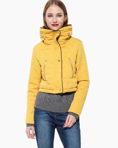 Desigual Coat 2 in 1 Yellow
