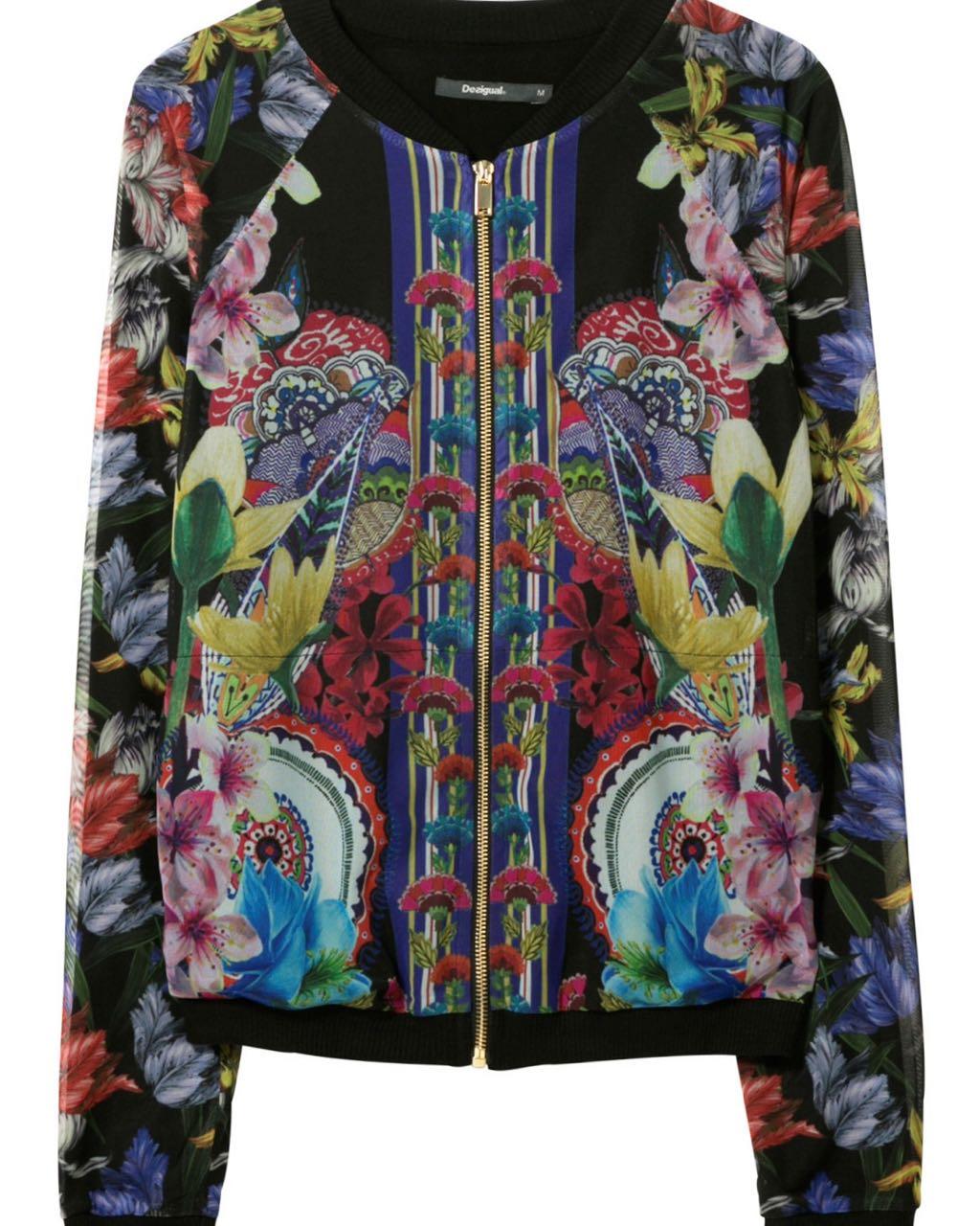 Desigual Light Floral Jacket