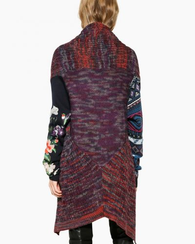 Desigual Long Sweater with Pin