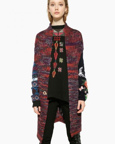 Desigual Cardigan Pink with Embroidery