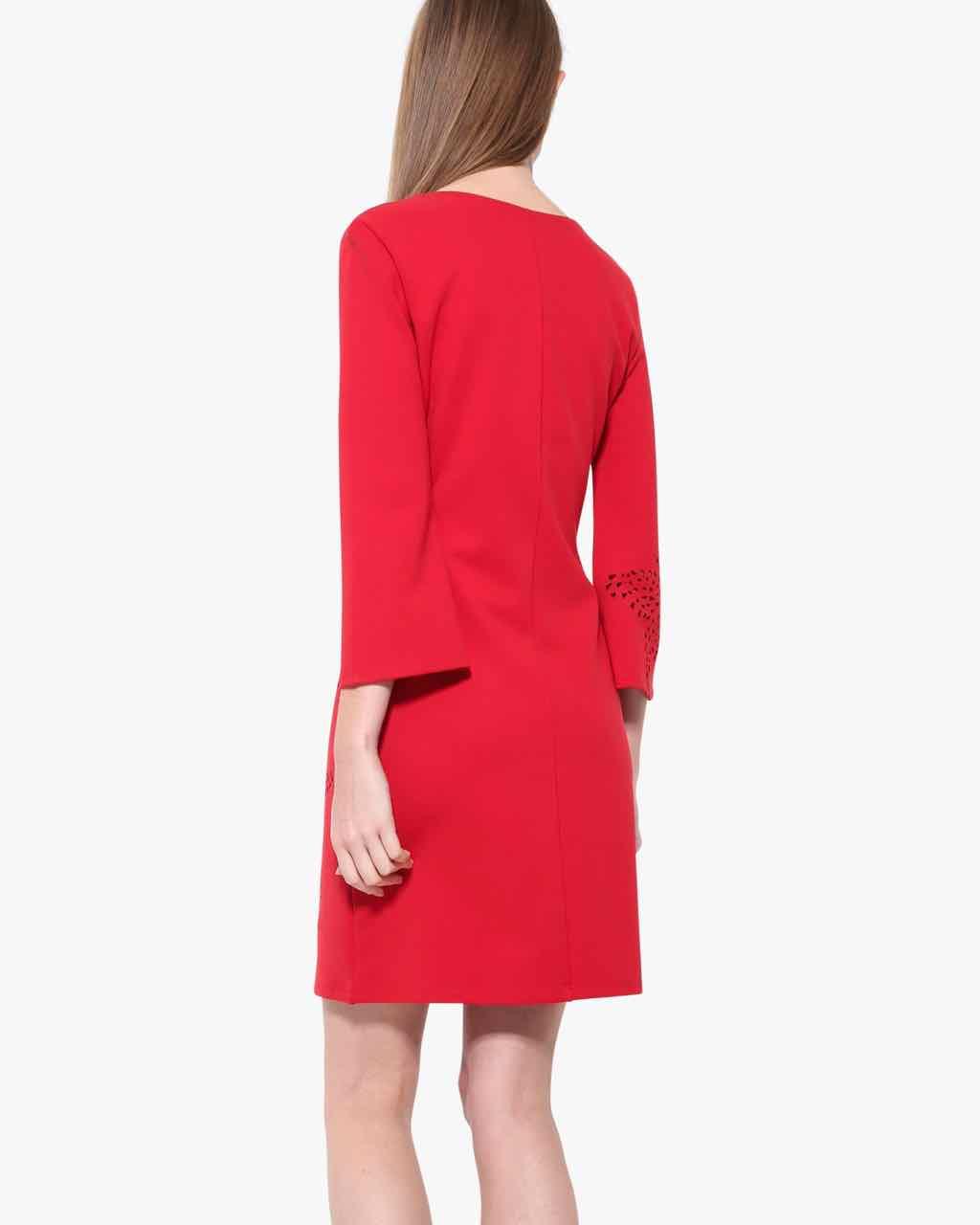 17WWVK44_3136 Desigual Red Dress Dominique Canada