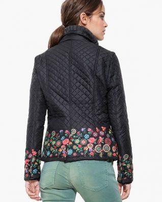 Desigual Black Jacket with Floral design