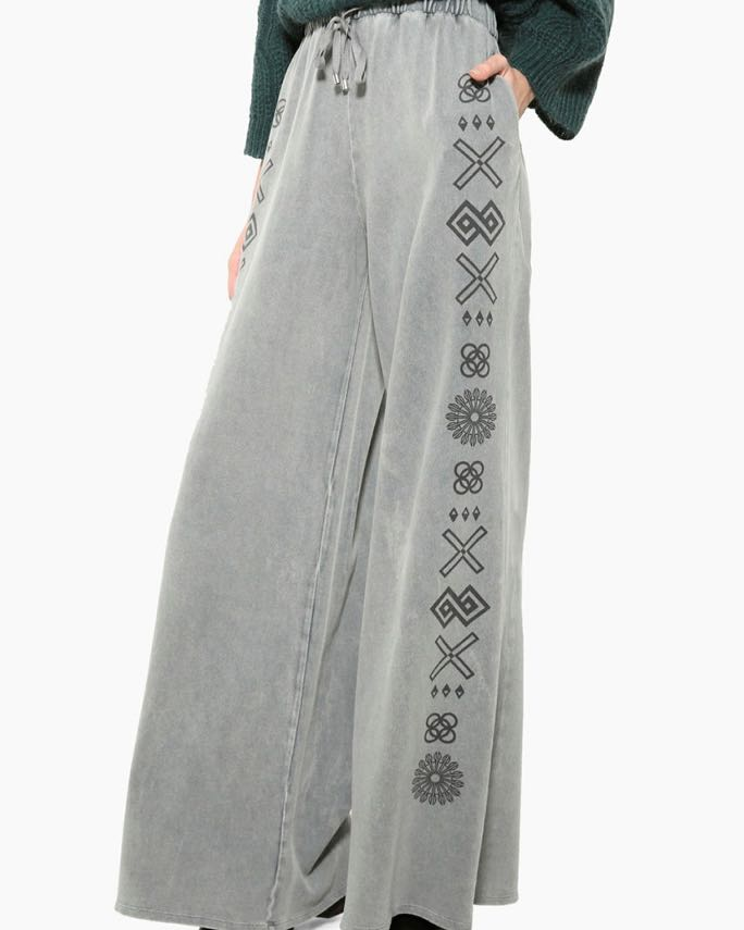 Desigual Wide Pants Grey