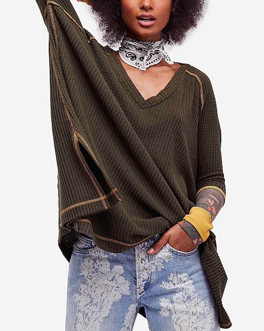 Free People oversized Thermal with Cuff design