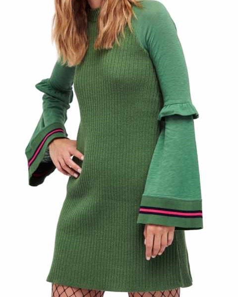 Free people Zou Bizou Knit Dress Green