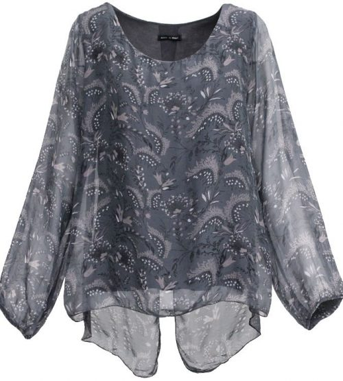 M Made in Italy Silk Top