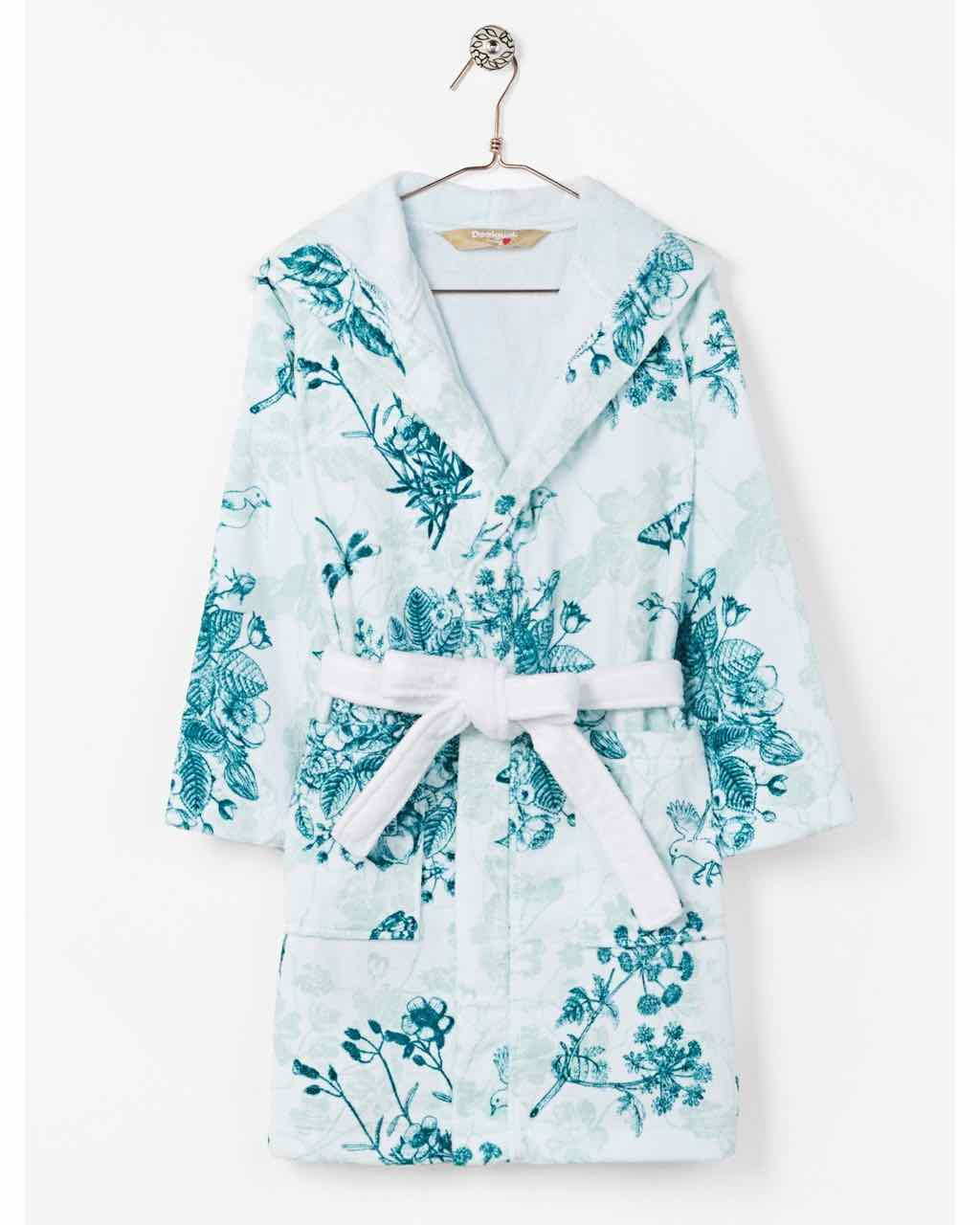 Desigual Bathrobe White Floral