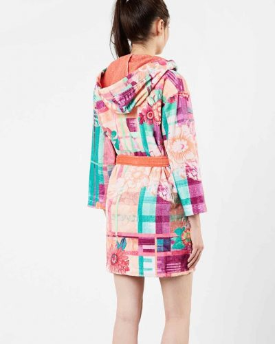 Desigual Bathrobe Love Tartan