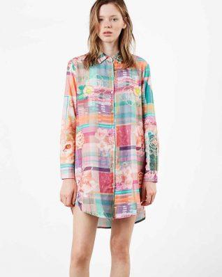Desigual Night dress Love Tartan
