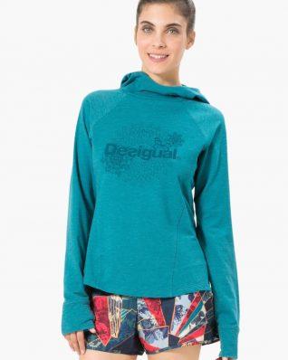 17WSRK00_4153 Desigual Sport Hoodie Essential Sweat Hoodie Buy Online
