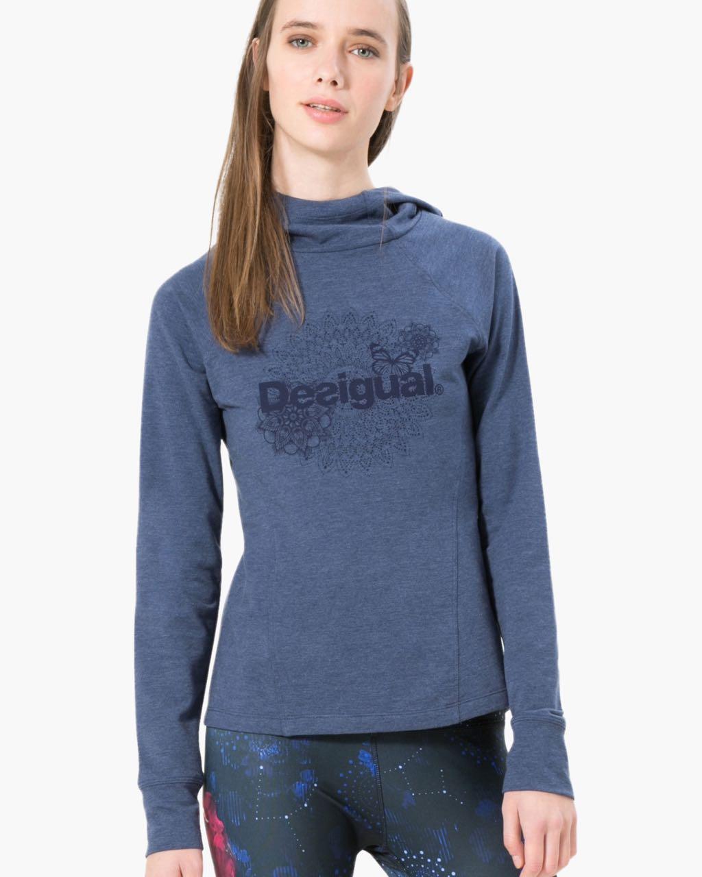 17WSRK00_5188 Desigual Sport Hoodie Essential Sweat Hoodie Buy Online