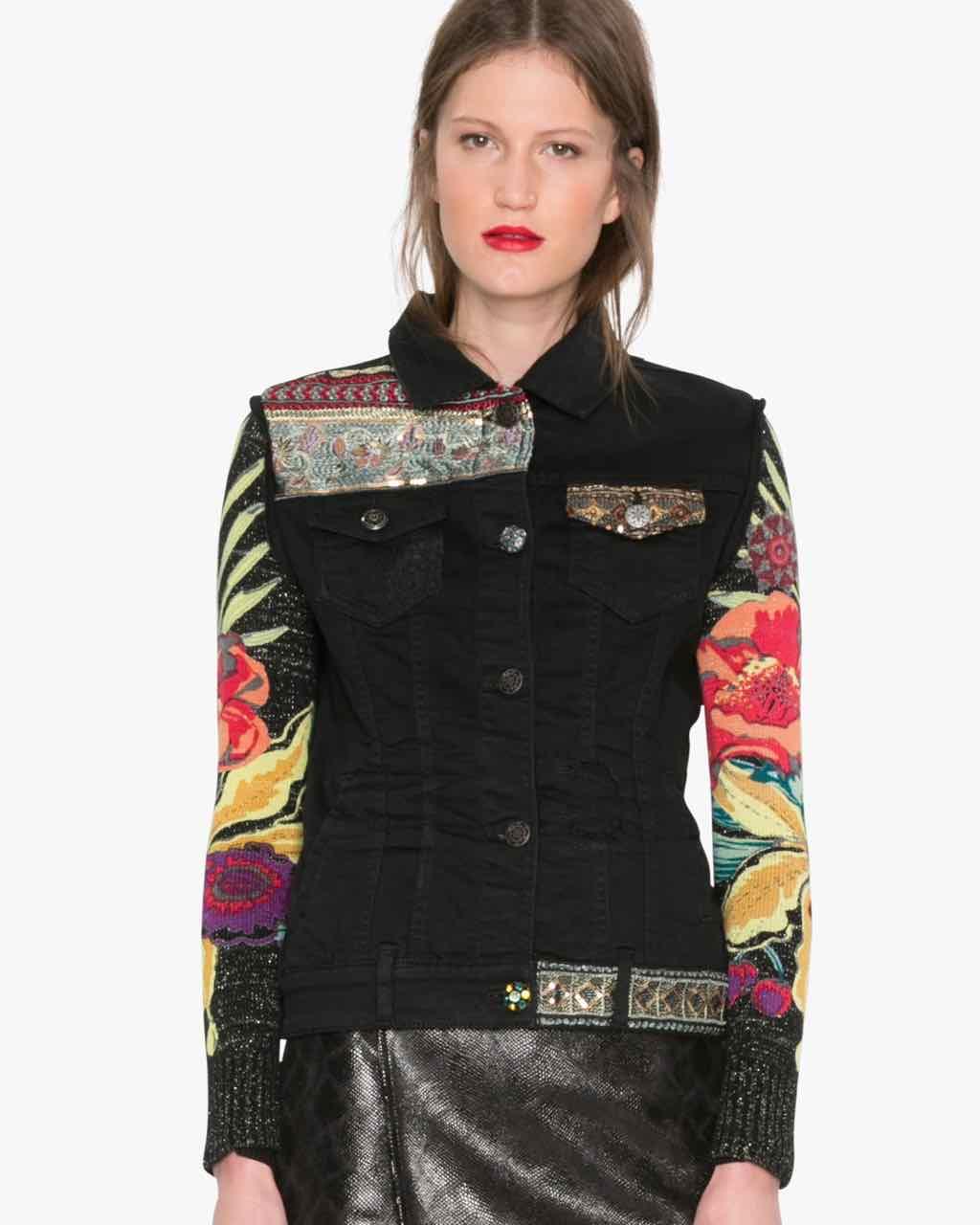 Desigual Black Denim Jacket