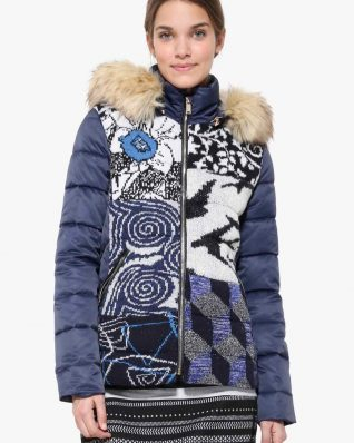 Desigual Blue Knit Jacket