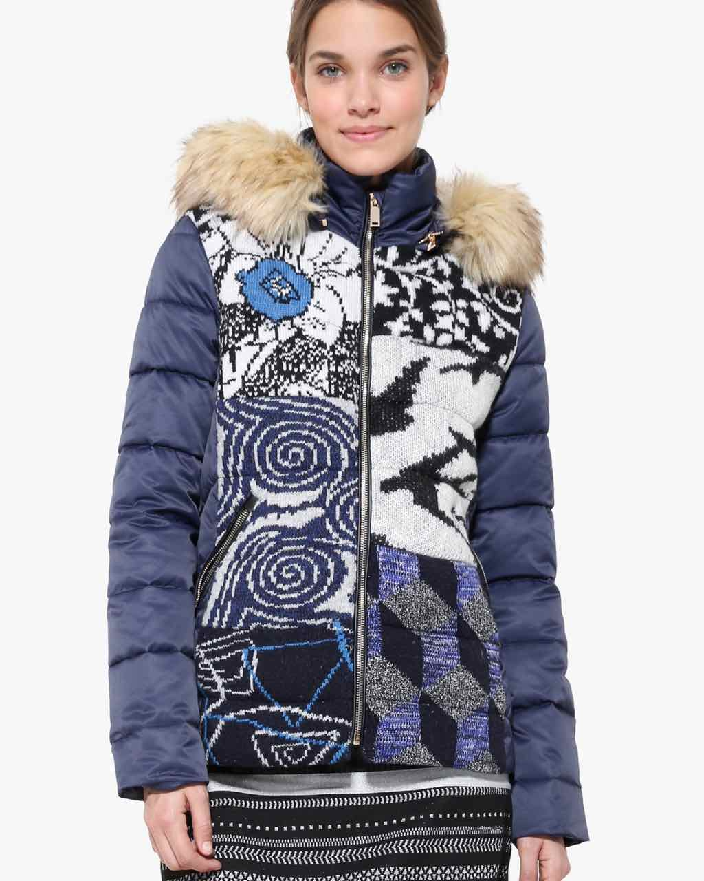 Desigual Blue Knit Jacket