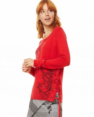 Desigual Red Sweater