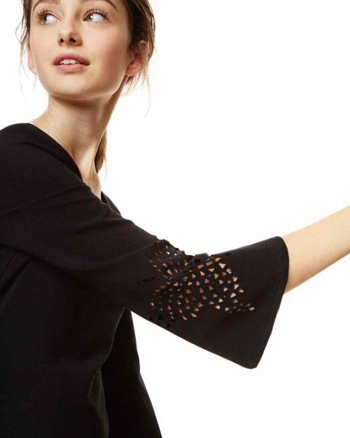 Desigual Black Dress Bell Sleeves