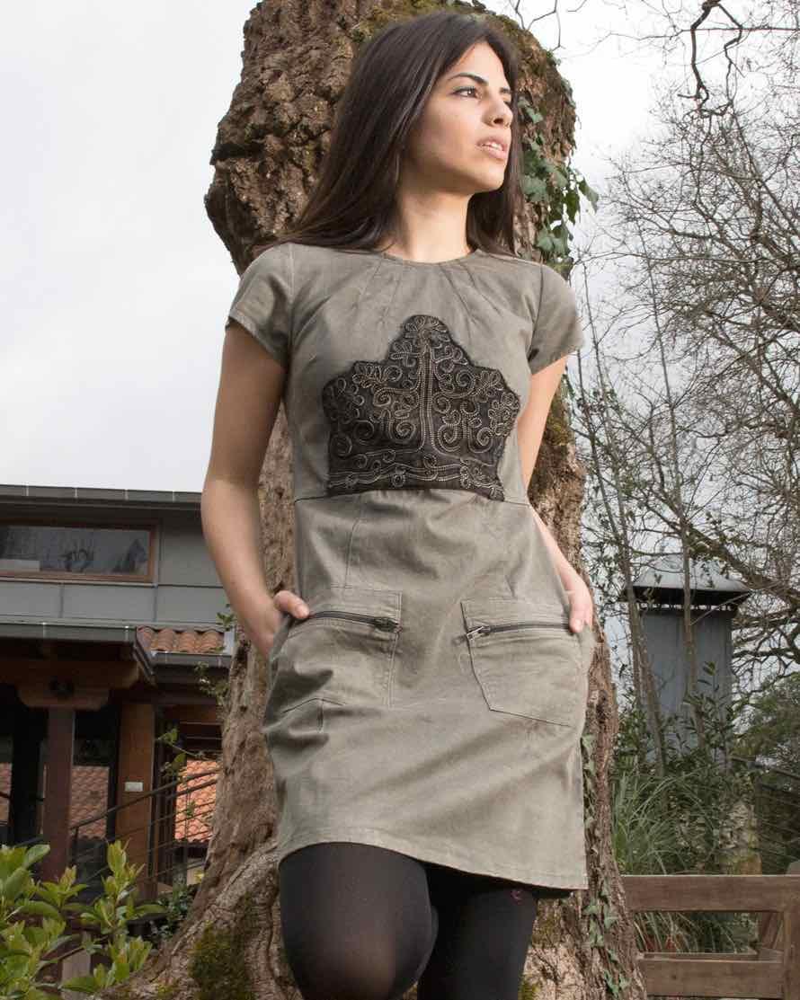 Savage Culture Khaki Dress