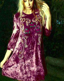 Savage Culture Velvet Fall Dress