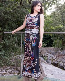 Savage Culture Long Dress Embroidery