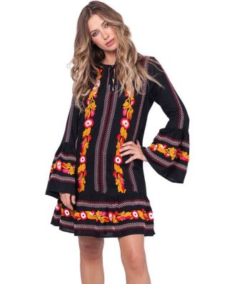 33351 Savage Culture Dress Sara Embroidered